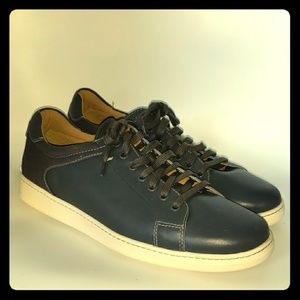 Cole Haan mene gray leather and canvas sneakers